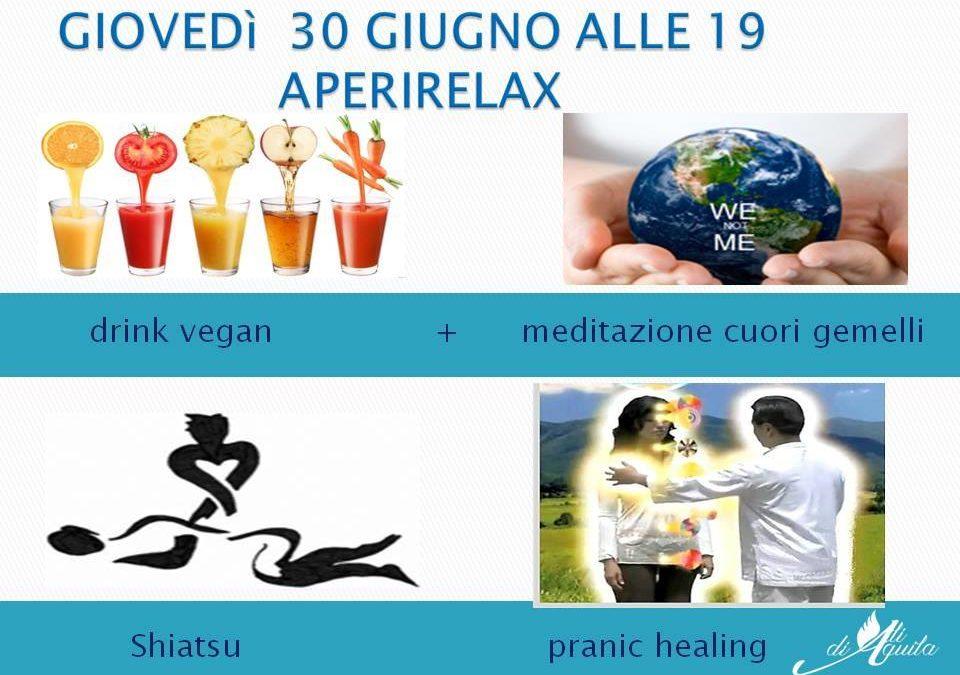 Aperirelax vi da appuntamento il 30 giugno da Ali di Aquila ad Aversa